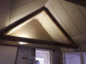 Gipsplaten plafond gemaakt